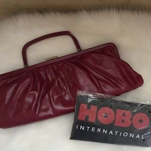 HOBO International Red leather clutch Purse